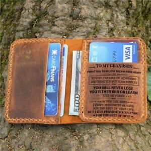 To Grandson Customized Engraved Leather Wallet for Birthday Christmas Gift04