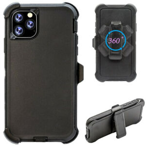Black For iPhone 12 Mini 12 Pro Max Case with Belt Clip Fits Otterbox Defender