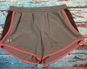 Womens UNDER ARMOUR Shorts Large Gray And Pink $15.99