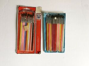 Lot of 39 Vintage Artist Paint Brushes AssortedNo. W0109 New $25.50