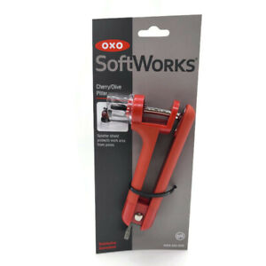 OXO Softworks Cherry and Olive Pitter with Splatter Shield Free Shipping $15.88