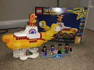 Beatles Yellow Submarine Lego Ideas Set Pre Owned Complete Retired $99.00