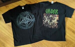 LOT of 6 USED Death Metal T Shirts Size LARGE. Reprints and official VADER $70.00