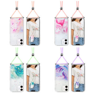 Lanyard Crossbody Marble Star Phone Protecive Case Cover For 5.4 iPhone 12 mini $14.24