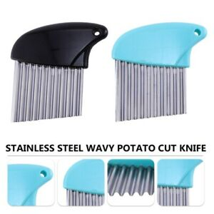 1 Set Useful Cut Knives Crinkle Cut Knives Potato Cut Knives Kitchen $8.97