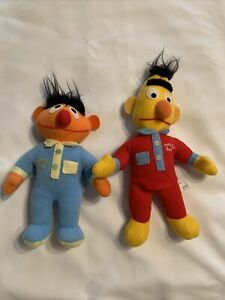 "Vintage Knickerbocker Ernie ""Nighty Night"" amp; ""Beddy Bye"" Bert Sesame St Dolls"