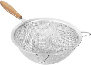 Fine Mesh Strainer With 9 Inch Large Stainless Steel Double Fine Mesh And Reinfo $21.99