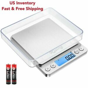 Portable 0.01g 500g Silver Mini LCD Digital Scale Food Balance Weight Gram $12.99
