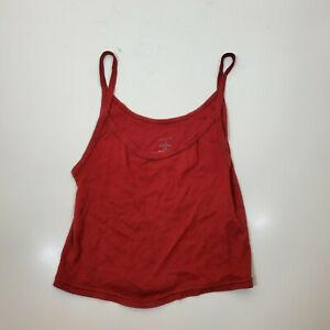 Urban Outfitters Out From Under Women Red Cropped Tank Top Large $4.89