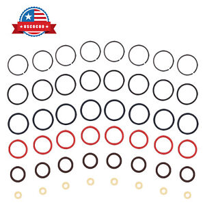 8 Set Diesel Fuel Injector O Ring Seals Fit for 1994 2003 Ford Powerstroke 7.3L $16.89