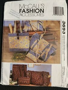 McCall#x27;s 3693 Tote Bag Duffle Case Quilted Sewing Pattern Pattern OSZ C $6.99