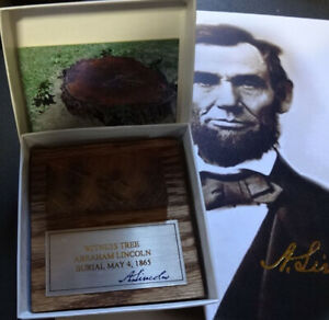 Abe Lincoln Burial witness tree piece paper weight from the.Oak Ridge Cemetery $34.95