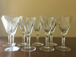 Set of 6 WATERFORD Crystal Sheila Claret Wine Cut glasses 2 extra for free