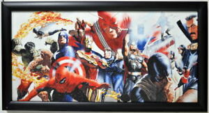 MARVEL#x27;S MIGHTIEST HEROES PRINT Professionally Framed Alex Ross X Men Avengers $74.99