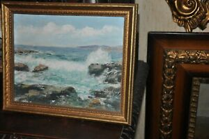 Seascape Oil By Listed New England artist CHARLES E.D. RODICK 1874 c.1940 $750.00