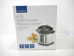 Insignia 6 Qt Multi Function Pressure Cooker Stainless Steel NS MC60SS9 New