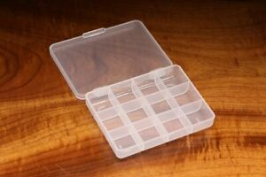 12 COMPARTMENT FLY HOOK OR TACKLE STORAGE THIN BOX 4 1 4quot; x 3 1 4quot; x 3 4quot;