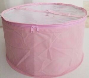 Large hat box pink with Clear PVC Top
