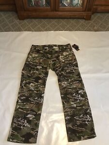 NWT MEN#x27;S UNDER ARMOUR STORM EARLY SEASON CAMO HUNTING PANTS 40X34 LOOSE