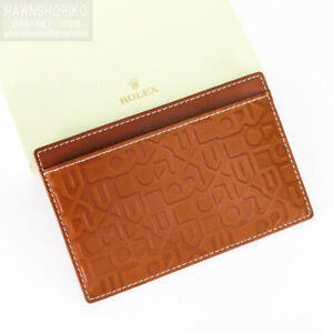 ROLEX Notepad Memo Case Leather Brown VIP Novelty Gift Limited Unused