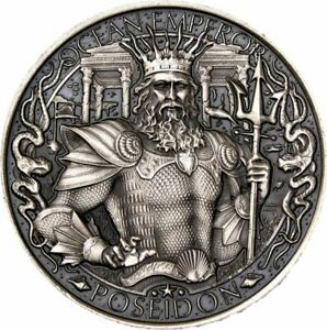 Atlantis 1 oz Silver Round Mythical Cities Series Antique Finish .999 Pure
