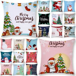 Xmas Printed Pillowcase Bed Home Waist Throw Pillow Case Cushion Cover Decor $6.98