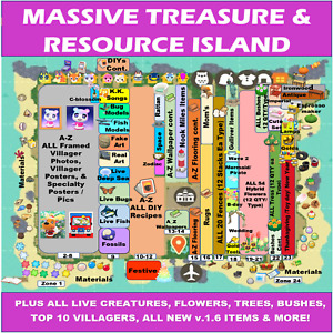 Christmas Winter Update Animal.Crossing Treasure Island Loot Catalog 1 HR🌷🦋🐙 $19.99