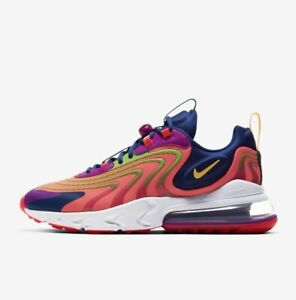 Nike Air Max 270 React ENG CD0113 600 Crimson White Purple Mens Running Shoes $89.95