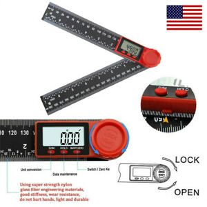 Electronic LCD Digital Angle Finder 8quot; Protractor Gauge Ruler With Batteries US $10.49