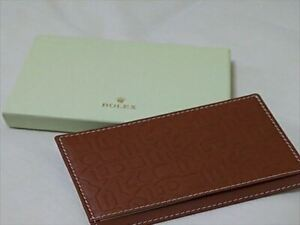 Rolex Notepad Case Brown VIP Novelty Gift Limited Men#x27;s Accessories