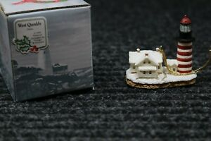 Harbour Lights Lighthouse Ornament: West Quoddy Maine 1999 $16.99