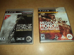 Lot Of 2 Metal of Honor Limited Edition Sony Playstation 3 PS3 Complete $12.77