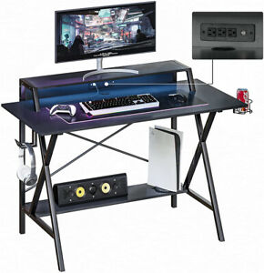 47 Gaming Table Computer Desk Laptop PC Study Writing Table W USB Cup Holder