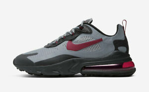 Nike Air Max 270 React quot;Houndstoothquot; CT3135 001 Black Red Grey Mens Running Shoe $100.00