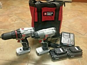 PORTER CABLE 20V MAX Cordless Drill and Impact Driver Combo Kit $99.00