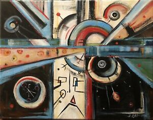 Mid Century Modern Style Original Painting by Ehle $129.00