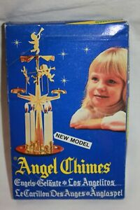 Vintage SWEDISH Metal Horses Chimes Clown amp; Angel Trumpets Candles Box Complete $22.99
