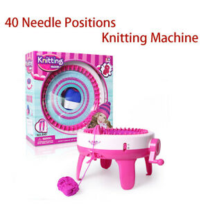 Knit Machine 40 Needle Positions Weaving Loom Hat Scarf Sock Hand Learning Toy