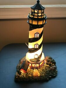 Ceramic lighthouse figure w light 10quot; tall $8.50