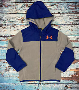 Baby UNDER ARMOUR Jacket Size 5T Blue And Gray Full Zip Hooded $22.99