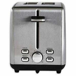 Professional Series 2 Slice Stainless Steel Wide Slot Toaster $29.99
