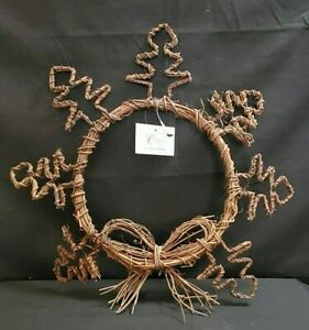 Natural Grape Vine Wreath Great Craft Christmas Grapevine with Tree Shapes New $6.45