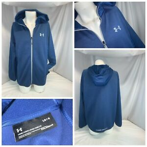 Under Armour Cold Gear Hoodie Jacket L Men Blue Poly NWOT YGI L0 36 $39.98