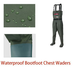 Bootfoot Chest Waders Multi purpose 2 Ply PVC Fishing Hunting Pants Waders Shoes