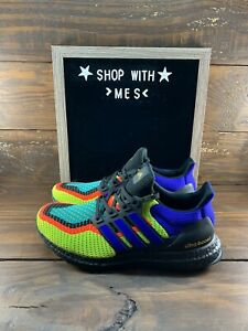 Adidas Running Ultra Boost DNA Black White Solar Red Mens Shoes FW8711 NEW $132.99