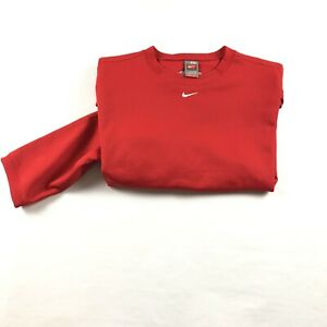 Vintage Nike fit Therma 2XL Center Swoosh Embroidered Red Sweatshirt Pull Over $35.00