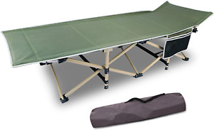 CAMPMOON Folding Camping Cots for Adults 500lbs Heavy Duty Sturdy Portable Cot