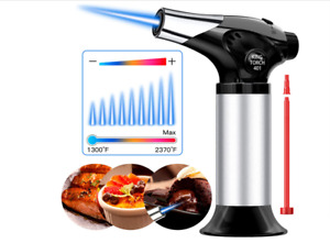Refillable Kitchen Cooking Torch Culinary Blow Lighter Butane Torch for BBQ $22.00