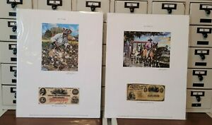 2 John W Jones Color of Money Collection Slaves Signed Lithographs $95.00