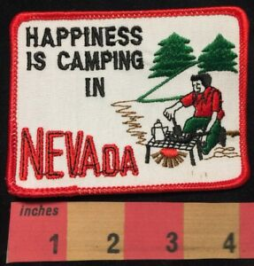 Happy Camper Patch HAPPINESS IS CAMPING IN NEVADA Great Outdoors 00X3